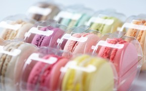 Обои макаруны, cookies, colorful, sweet, macaron, almond, сладкое, десерт, dessert