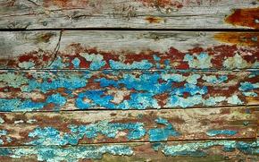 Обои краска, стена, доски