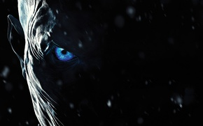 Обои ice, blue eyes, evil, eye, White Walkers, face, Game of Thrones, zombie, A Song of ...