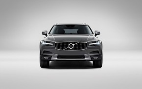 Картинка Volvo, Car, Silver, Cross Country, Универсал, 2017, V90