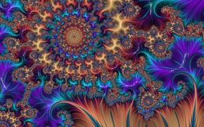 Обои фрактал, цвет, узор, ярко