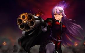 Картинка девушка, оружие, дуло