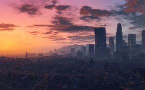 Картинка city, game, sky, cloud, Grand Theft Auto V, GTA V, GTA 5, kumo