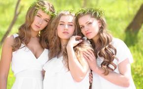 Картинка лето, солнце, девушки, платье