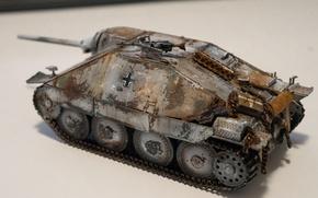 Картинка макро, игрушка, истребитель танков, моделка, Хетцер, Hetzer 38