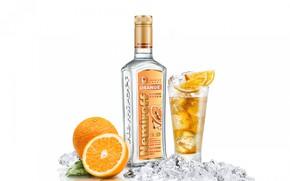 Картинка бутылка, водка, апельсин, Nemiroff