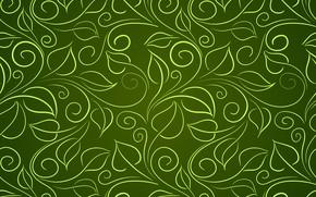 Обои green, фон, текстура, leaves, wallpapers
