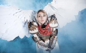 Картинка девушка, ангел, меч, косплей