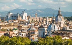 Картинка city, город, Рим, Италия, Italy, panorama, Europe, view, Rome, travel