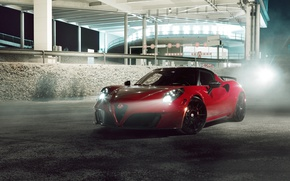 Картинка car, Alfa Romeo, red, Alfa Romeo 4C, Alfa Romeo 4C By Pogea Racing