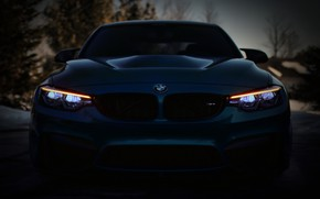 Картинка BMW, Blue, Front, F80, Sight, LED