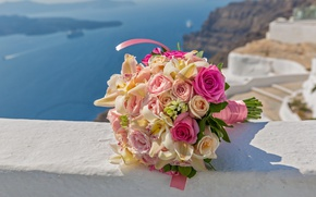Картинка розы, love, бутоны, flowers, romantic, roses, wedding bouquet