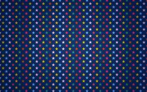 Картинка краски, звёзды, ряд
