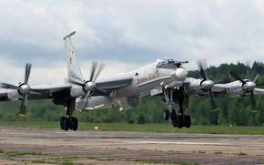 Обои Авиация ВМФ России, ОКБ Туполева, ДПЛС, Ту-142МР, российский дальний противолодочный самолёт, Великий Устюг