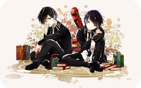 Картинка аниме, арт, двое, братья, мальчики, Ao no Exorcist