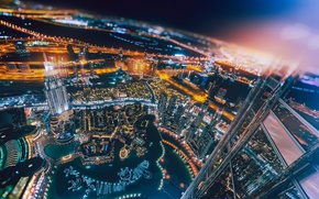 Картинка свет, ночь, город, огни, Дубай, ОАЭ