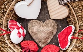 Картинка love, romantic, hearts, valentine's day, gift, валентинки, сердцечки