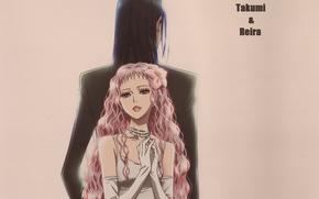 Картинка спина, перчатки, бусы, двое, белое платье, кудри, длинные волосы, art, ai yazawa, nana, reira serizawa, …