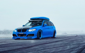 Картинка BMW, Car, Blue, Sport, Touring, E91