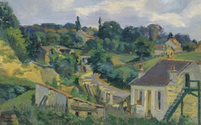 Картинка пейзаж, картина, импрессионизм, Armand Guillaumin, Арман Гийомен La Route Tournante