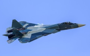 Обои Россия, «ПАК ФА», Т-50, истребитель, многофункциональный, Су-57