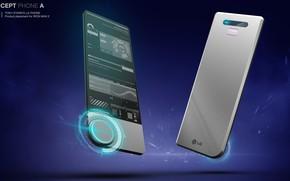 Картинка дизайн, кнопка, смартфон, аппарат, Concept phone for Tony Stark