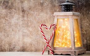 Картинка Новый Год, Рождество, winter, snow, merry christmas, lantern