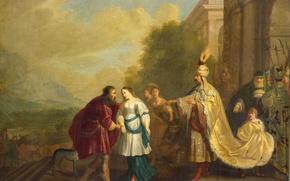 Картинка картина, история, мифология, Фараон Возвращает Сару Аврааму, Isaac Isaacsz