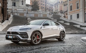 Картинка Lamborghini, white, 2018, Urus