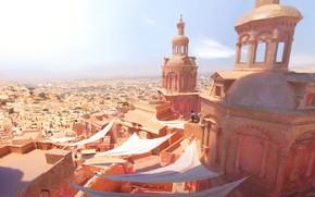 Картинка город, человек, здания, drake rooftops