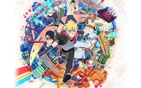 Картинка city, game, Fire, Naruto, anime, ninja, asian, manga, shinobi, japanese, oriental, asiatic, hitaiate, genin, kunoichi, ...
