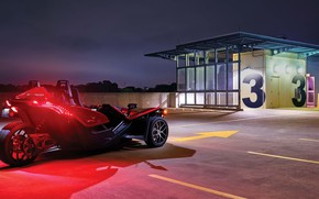 Картинка beautiful, comfort, hi-tech, Polaris, Slingshot, tecnology, sporty, tricycle, 022