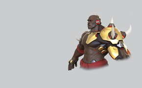 Картинка арт, Blizzard Entertainment, renaud galand, DOOMFIST HIGHPOLY