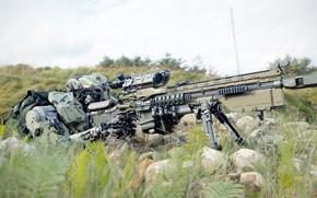 Картинка оружие, фантастика, арт, киборг, Valentine Sorokin, Mechanised Ballistics