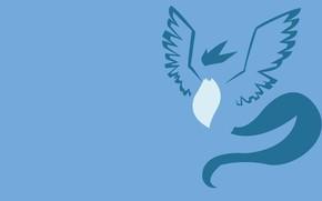Картинка синий, птица, ice, bird, blue, fly, покемон, pokemon, легендарный, летающий, ледяной, Artikuno, Артикуно