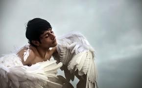 Обои человек, крылья, ангел