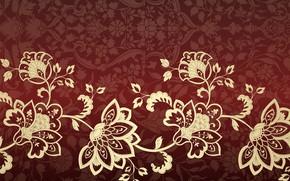 Картинка цветы, узор, текстура, орнамент