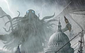 Картинка Cthulhu, Cover, Joseph Diaz, Кошмарный монстр, Pax Cthuliana