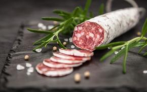 Картинка колбаса, специи, салями, Italian, salami