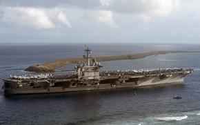 Картинка море, авианосец, USS, Carl Vinson, (CVN 70)