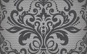 Картинка серый, vector, черный, wallpaper, орнамент, vintage, patterns, seamless, damask