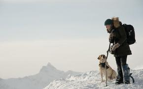 Картинка cinema, dog, snow, movie, film, Kate Winslet, The Mountain Between Us