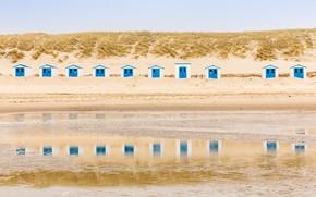 Картинка пляж, берег, домики