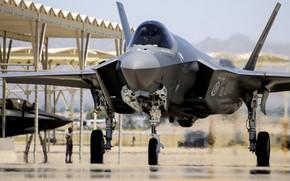 Картинка Lockheed Martin, USAF, ВВС США, Lightning II, F-35, истребитель-бомбардировщик