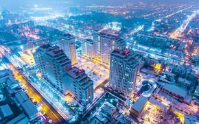 Картинка Russia, Kuban, lights, огни, ночь, night, Город, здания, Краснодар, skyscraper, City, Кубань, building, Россия, небоскреб, ...