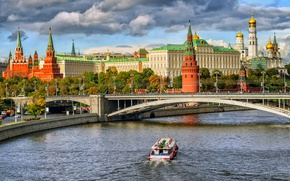 Картинка мост, река, Москва, Кремль, Россия, Moscow, Kremlin