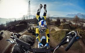 Картинка прыжок, спорт, мотокросс