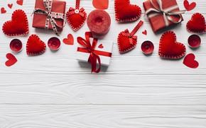 Картинка любовь, цветы, праздник, подарок, розы, свечи, сердечки, день влюбленных, ключик