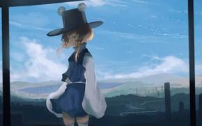 Картинка небо, игра, арт, девочка, Тохо, Тоухоу