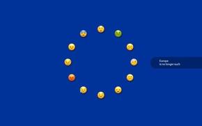 Картинка европа, minimalism, Europe, Европейский союз, флаг Европы